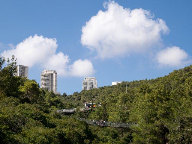 Подвесные мосты в парке Нешер, Хайфа