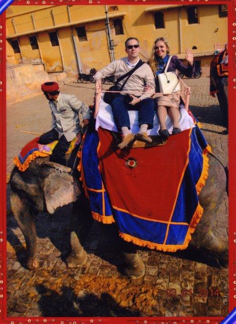 Катание на слонах, Джайпур