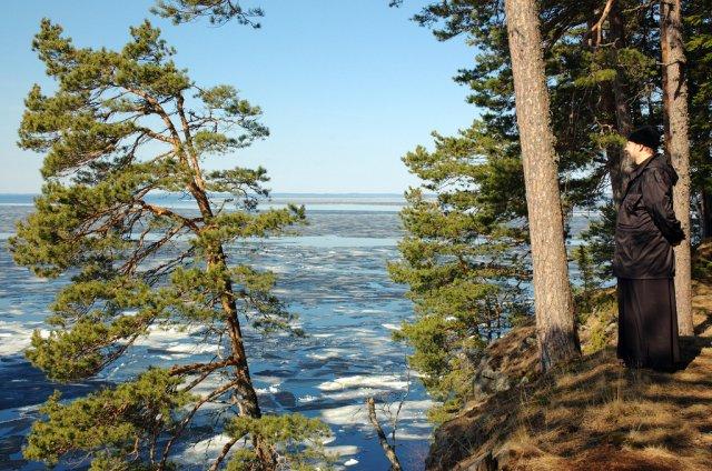 Ладожское озеро весной, Ленинградская область, Россия