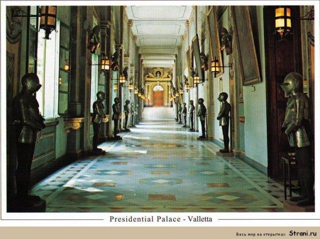 Интерьер Президентского дворца в Валлетте
