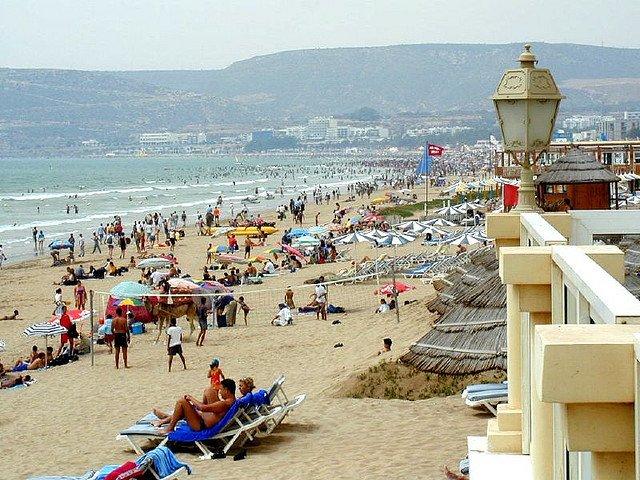 Пляж Агадира, Марокко