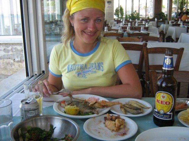 Кафе в Ларнаке, Кипр