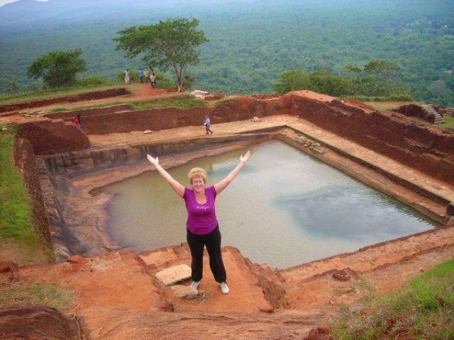 И вот я на вершине, Сигирия, Шри-Ланка