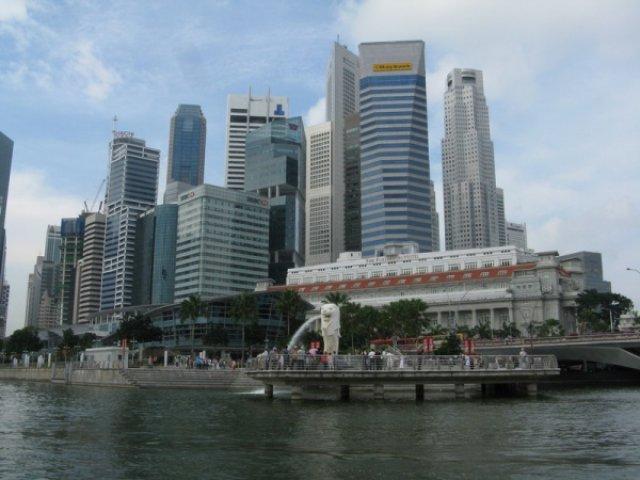 Мерлион и его город - Сингапур