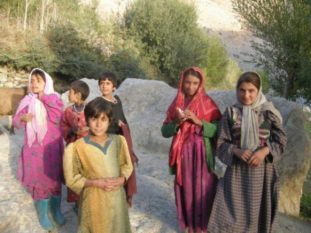 Ваханская долина, сельские девушки