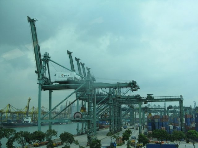 Порт в Сингапуре