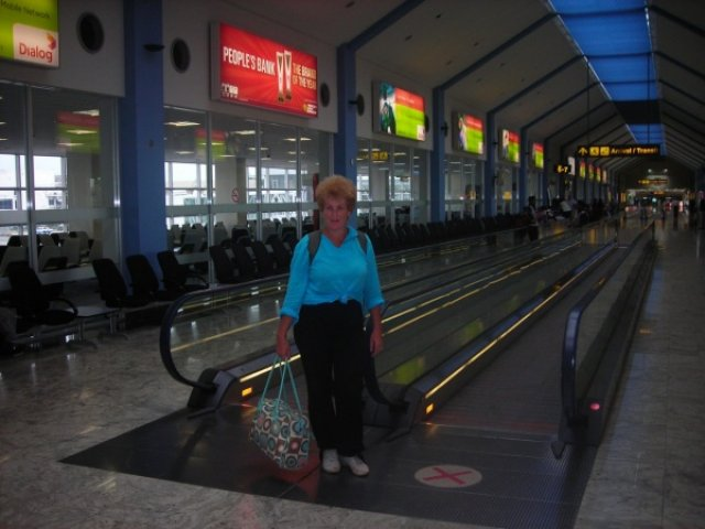 Прощай Шри-Ланка в аэропорту