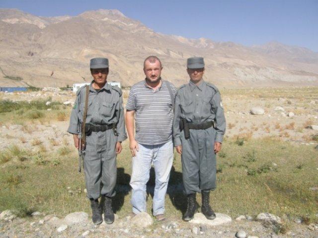 С афганскими погранцами