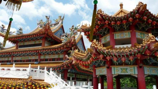 Китайский храм в Куала-Лумпур, Малайзия