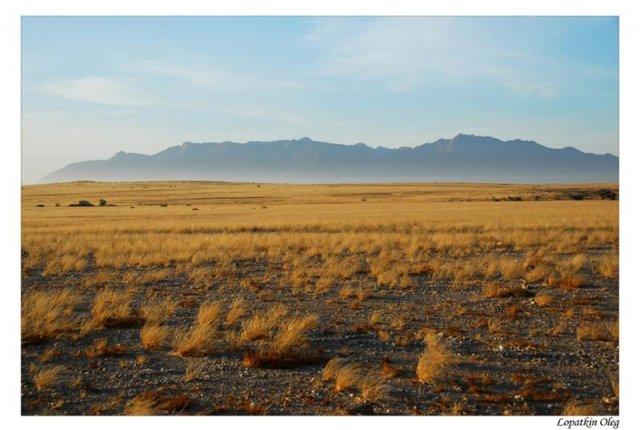 Вид на горный массив Brandberg, расположенный в Damaraland