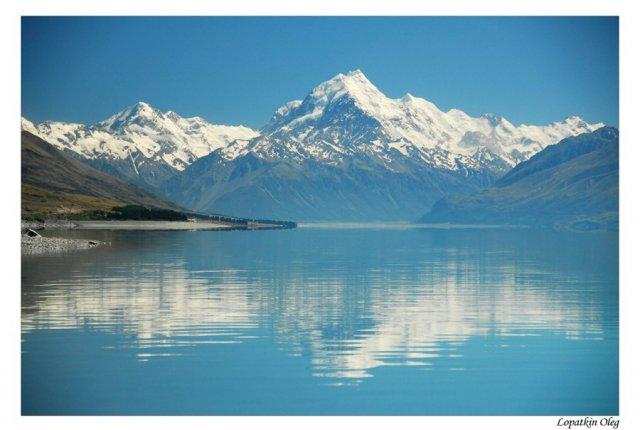 Вид на Гору Кука, Новая Зеландия