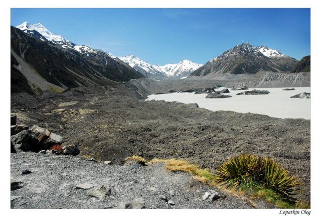 Ледниковое озеро у подножия горы Кука, Новая Зеландия