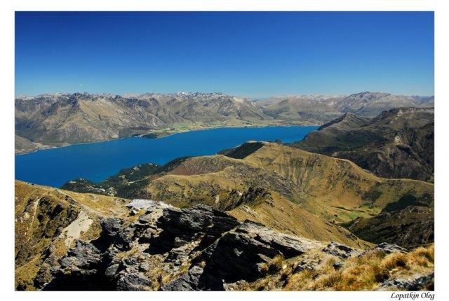 Вид с вершины Бен Ламонд, Новая Зеландия