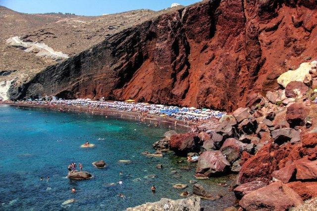 Красный пляж, Санторини