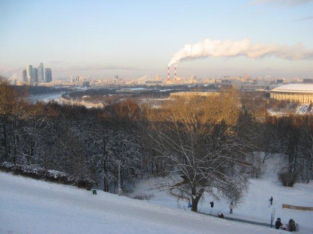 Воробьёвы горы и вид на Москву