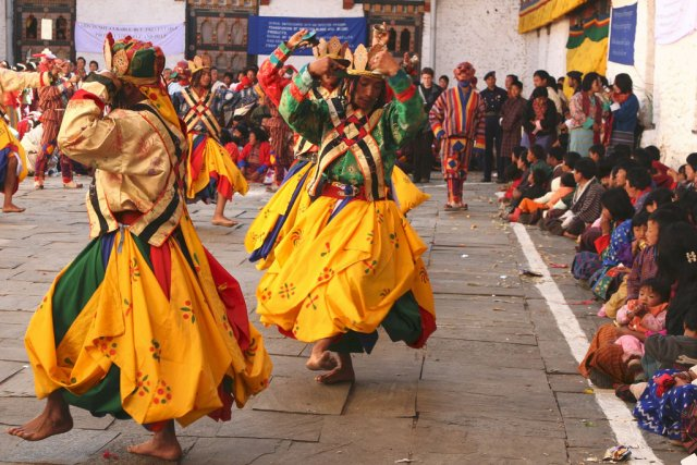 Цечу в Бутане