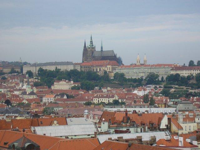 Вид на Пражский Град (замок), Чехия