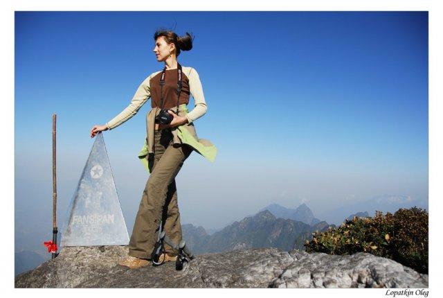 На вершине Фан Си Пана, 3 143 м, Вьетнам