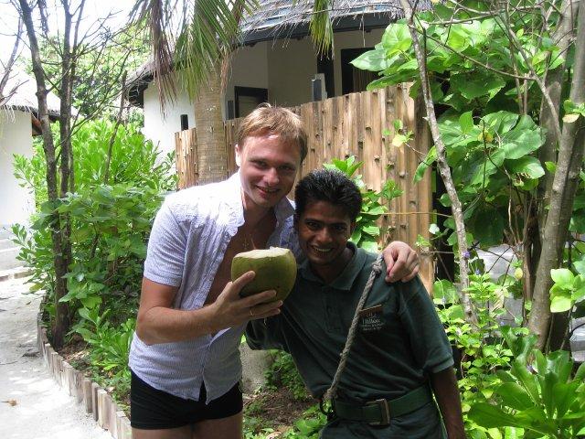 Фото c местным, Мальдивы
