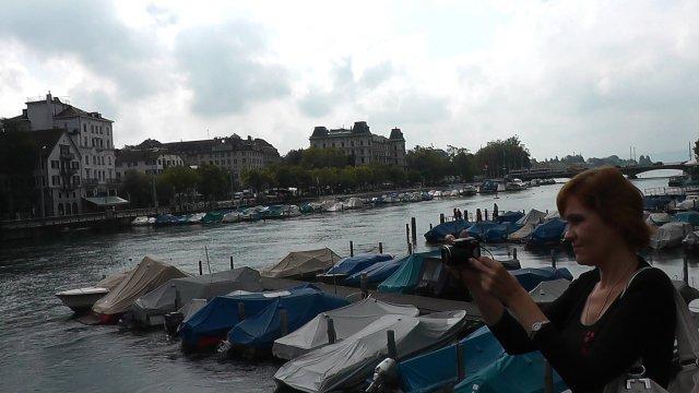 Лодки у берегов реки Лиммат