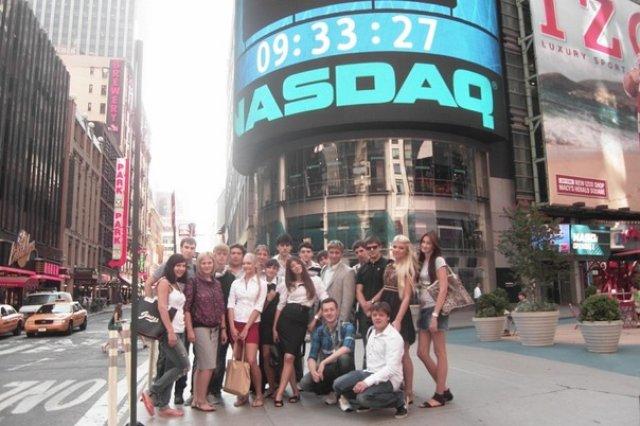 New York. Присутствие на открытии фондовой биржи Nasdaq