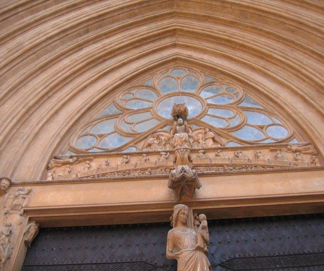Таррагона. Центральные врата собора. Свод