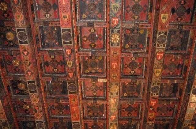 Таррагона. Деревянный потолок одного из приделов собора