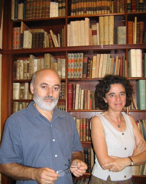 Супруги: Дон Хосе дель Рио и Тереза Меркаде - владельцы букинистического магазина в Таррагонена ул.Cos del Bou, 14