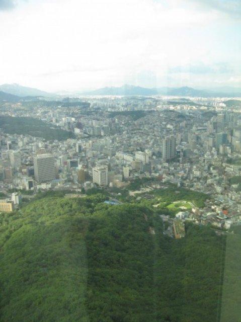 "Вид с башни ""N Seul Tower"", Южная Корея"