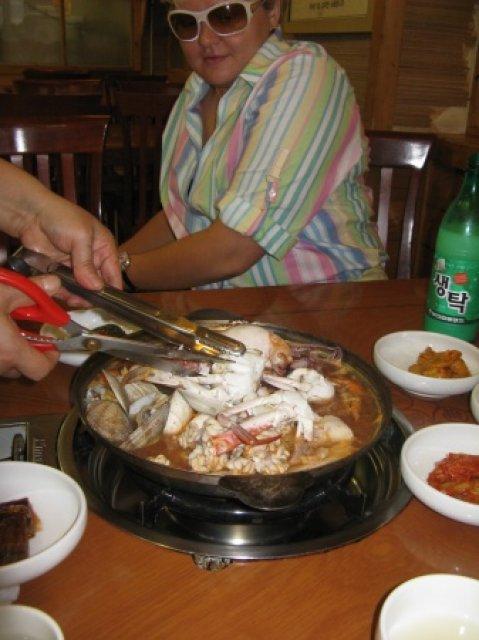 Ресторан морепродуктов, Южная Корея
