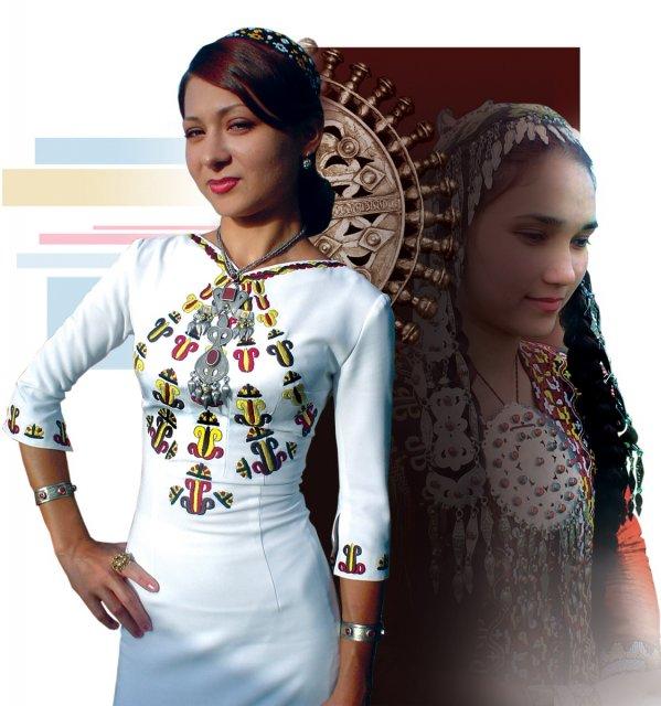 Фото туркменских платьев с вышивками