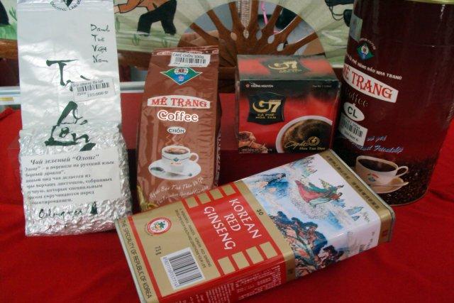 Чай и кофе - подарки из Вьетнама