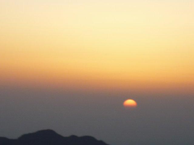 Восход солнца над горой Моисея