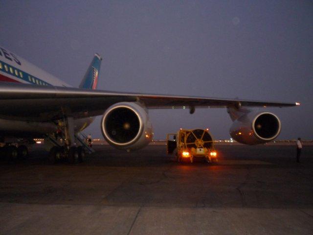 Наш самолет в аэропорту Шарм-эль-Шейха