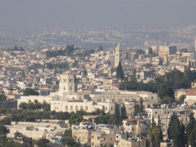 Главный вид Иерусалима со смотровой площадки на Елеонской горе