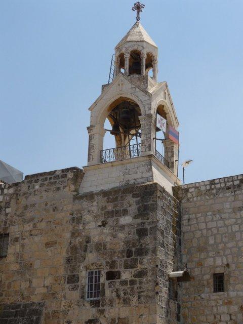 Колокольня армянского монастыря, примыкающего с юго-запада к Храму Рождества Христова