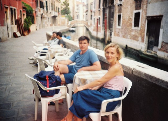 На улочках Венеции.1989