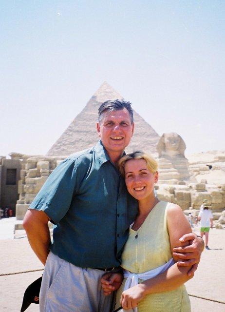 У пирамид в Гизе