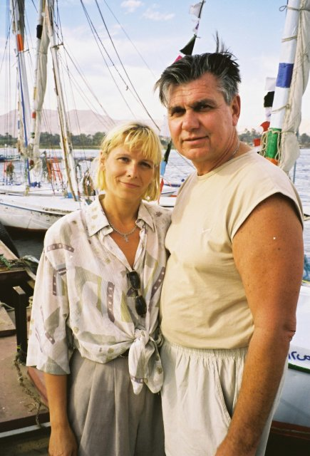 Николай ващилин с Еленой на берегу Нила в Луксоре