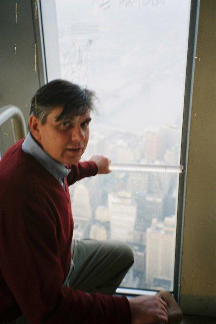 Николай Ващилин в МТЦ -верхний смотровой этаж.Нью-Йорк.1995