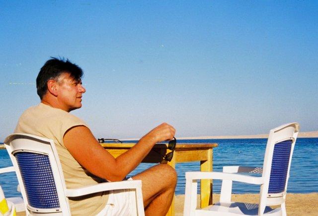 Николай Ващилин на Красном море