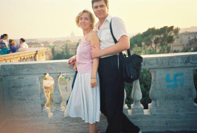 На прогулке по вилла Боргезе над Римом.1989