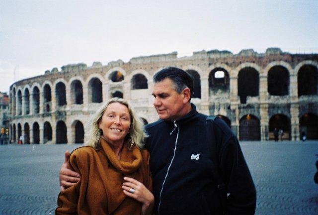 У Колизея в Вероне.2002