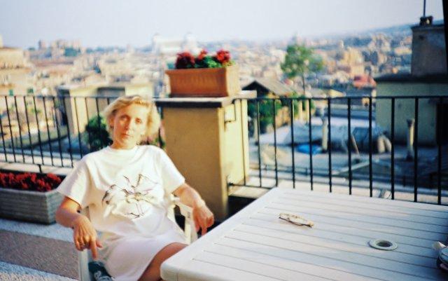 На вилла Боргезе в Риме.1989