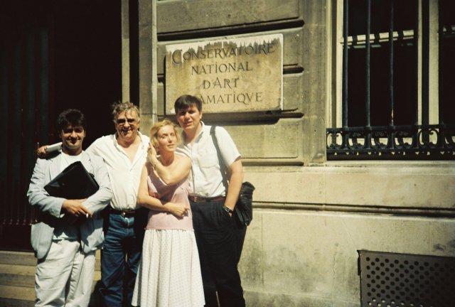 С коллегами Раулем Билярей и Франсуа