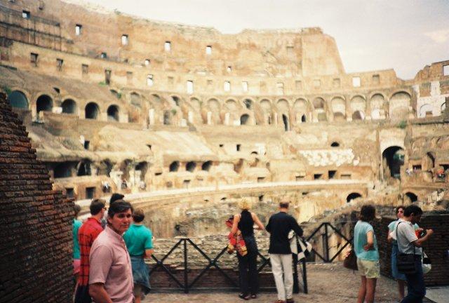В римском Колизее. 1989