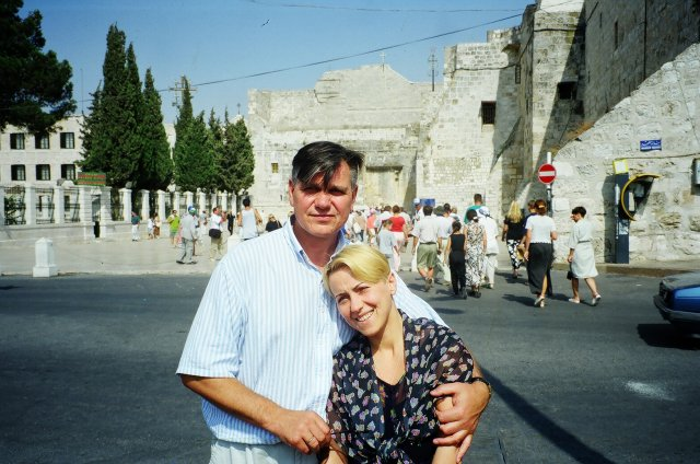 В Вифлееме у храма Рождества Господня.1997