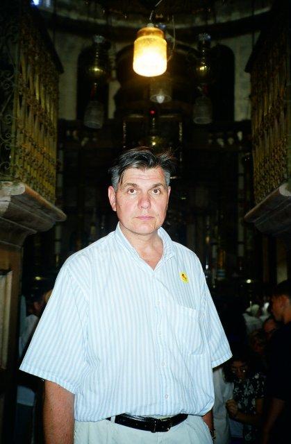 В храме Гроба Господня.1997