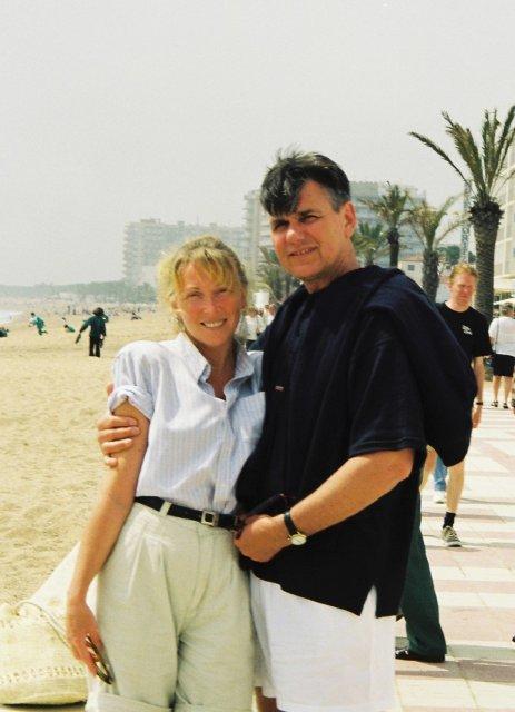 Николай Ващилин с Мариной в Бланесе.1999