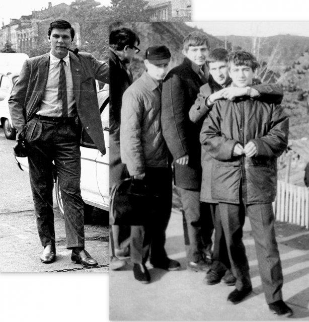 С Вовой Путиным и Аркашей Ротенбергом после возвращения из за границы. 1969